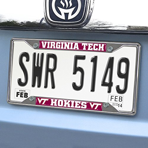 FANMATS NCAA Virginia Tech Hokies Chrome License Plate Frame