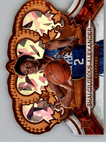 - 2018-19 Crown Royale Crystal Basketball #103 Shai Gilgeous-Alexander SER/99 Los Angeles Clippers Official NBA Trading Card From Panini