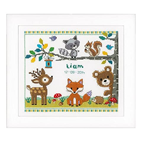 Vervaco Counted Cross Stitch Kit Forest Animals I AIDA