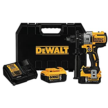 DeWalt DCD991P2 20V MAX XR Brushless Drill/Driver 3-Speed, Premium 5.0Ah Kit
