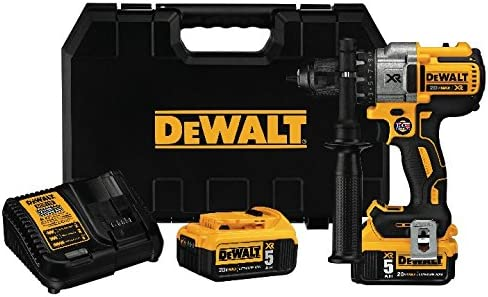 DEWALT 20V MAX XR Brushless Drill Driver 3-Speed, Premium 5.0Ah Kit DCD991P2