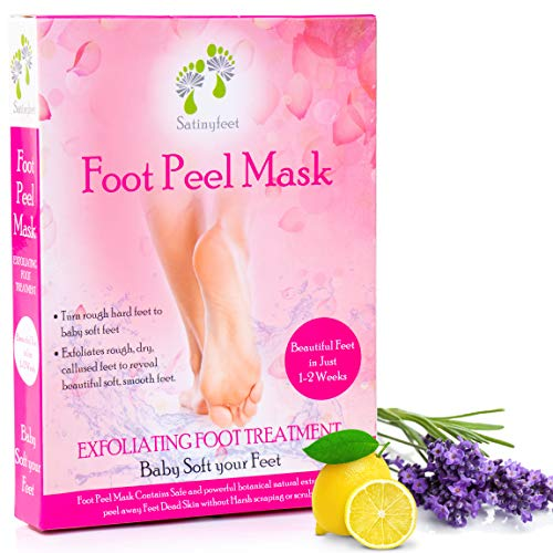 Foot Peel Exfoliating Mask which Gently Removes Dead Skin Peel Away Thick Calluses Rough Heels 2 Pair Exfoliating Booties for Smooth Feet Fits