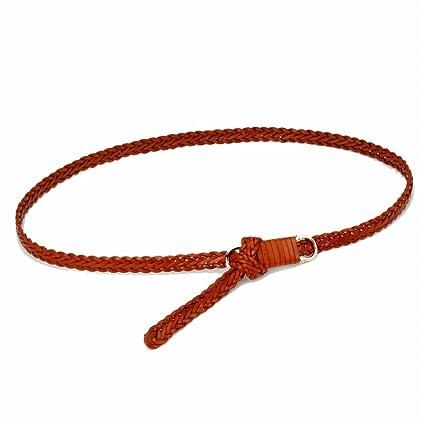 Cinturón de mujer para mujer La correa trenzada flaca de la cintura de las mujeres  tejió 15044b914707