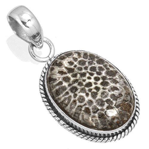 Natural Stingray Coral Gemstone Pendant Solid 925 Sterling Silver Latest Jewelry