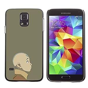 A-type Arte & diseño plástico duro Fundas Cover Cubre Hard Case Cover para Samsung Galaxy S5 (Joven dobladora de aire)