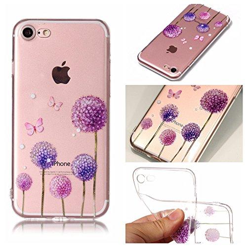 iPhone 7 Custodia , Leiai Moda Dente Di Leone Silicone Morbido TPU Cover Case Custodia per Apple iPhone 7