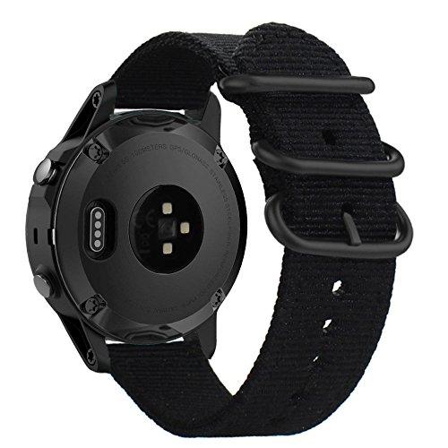 ViCRiOR for Fenix 5S Bands, 20mm NATO Premium Woven Nylon Watch Band Strap Wristbands for Garmin Fenix 5S/5S Plus