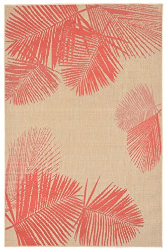 Liora Manne TERS8179217 Terrace Casual Tropical Botanical Palm Leaves Indoor/Outdoor Modern Area Rug, 7'10