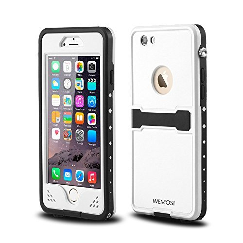 hockproof Protection Cover Case Impact Resistant with Viewing Kickstand for iPhone 6 6s 4.7 White ()