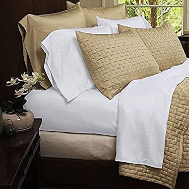 Natural Luxury Bamboo Bed Sheets - HIGHEST QUALITY Ultra Soft 4 Piece Eco-Friendly Bamboo Bed Sheets - Wrinkle Free & Hypoallergenic - King - White