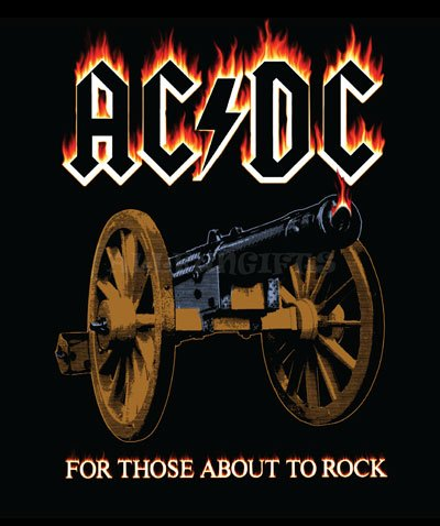 Ac/dc About to Rock Design Fleece -