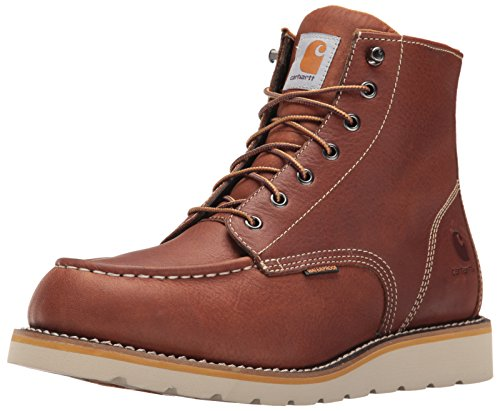 Carhartt CMW6175 Men's 6-Inch Waterproof Tan Wedge Boot Soft Toe Work, 11.5 M US