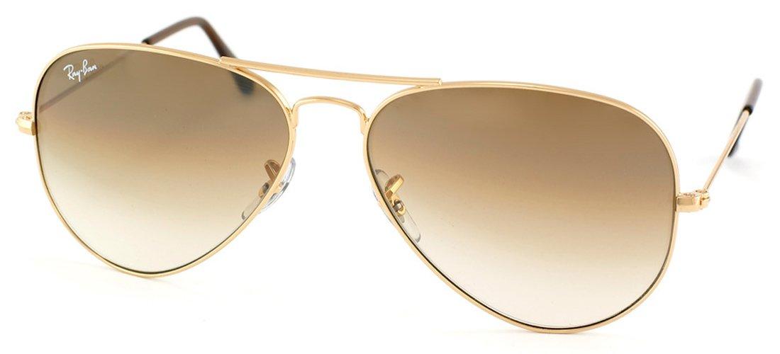Amazon.com  RAY BAN AVIATOR RB3025 Sunglasses - Gold Brown Gradient 001 51  Medium (58mm)  Shoes c025792280