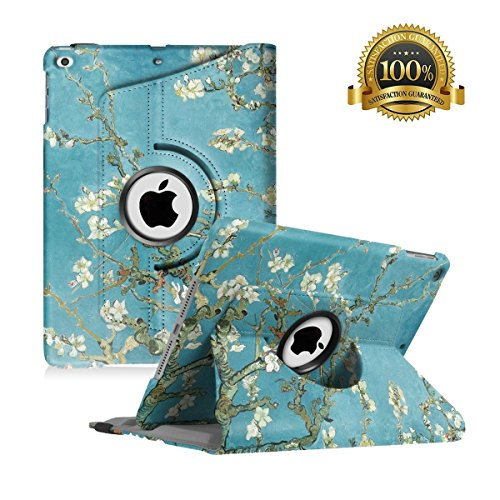 18 2017/ iPad Air Case - 360 Degree Rotating Stand Smart Cover Case with Auto Sleep Wake for Apple iPad 9.7