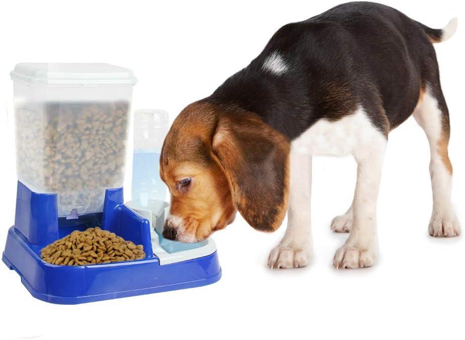 PAWISE Pet Feeder Food Dispenser Dog Self-Feeding Bowl Cat Automatic Feeder 5L Capacity