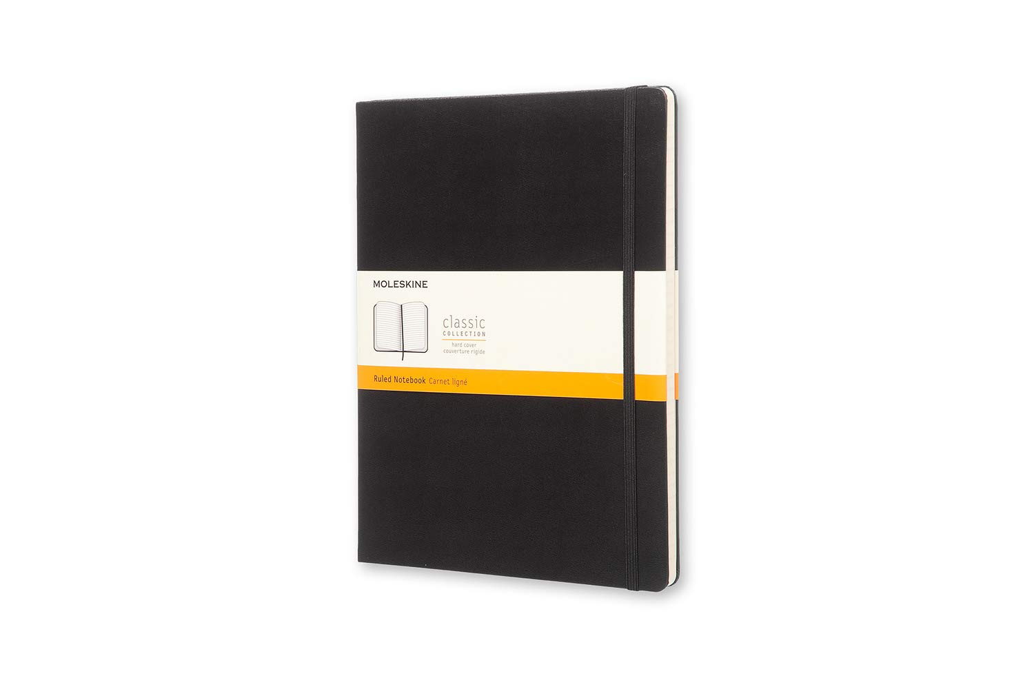 Moleskine Classic Notebook, Hard Cover, XL (7.5'' x 9.5'') Ruled/Lined, Black