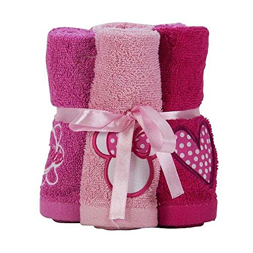 Disney Minnie Mouse Washcloth Bundle (Kids Bathroom Sets Minnie Mouse)