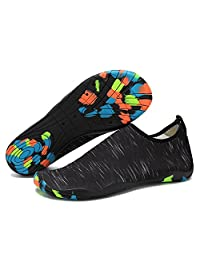 Water Shoes Mens Womens Barefoot Quick-dry Aqua Socks Lightweight Swim Shoes Beach Pool Diving Snorkeling Surf shoes with Drainage Hole