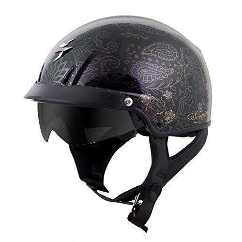 scorpionexo-exo-c110-unisex-adult-half-size-style-azalea-helmet-black-gold-medium