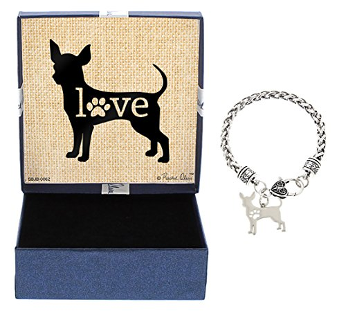Breed Chihuahua (Mother's Day Gifts Chihuahua Bracelet Gift Love Dog Breed Silhouette Charm Bracelet Silver-Tone Bracelet Gift for Chihuahua Owner Jewelry Box Mothers Day Gift Idea For A Rescue Dog Mom)