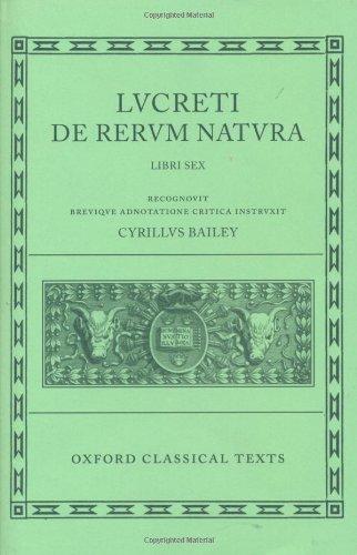 De Rerum Natura (Oxford Classical Texts) (Bks.1-6) (Latin...