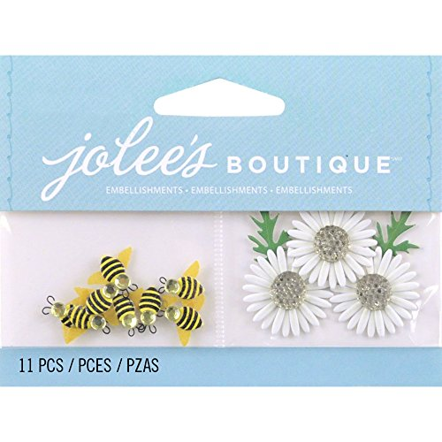 Jolee's Boutique 50-00450 Scrapbooking Embellishment, Bumble Bees and Daisies