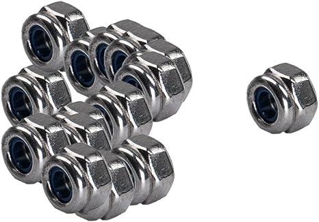 OxoxO 100pcs M3 Stainless Steel 304 Self-Locking Nylock Nylon Insert Hex Lock Nuts