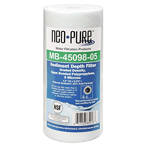 Neo-Pure 10 BB Graded Density Polypropylene Sediment Water Filter 50/5 mic 12 Pack (Sediment Filter Mic)