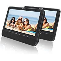 9.5 Dual Screen DVD Player for Car Headrest Portable DVD player with Games for Kids, SD/ USB Slot (Black)