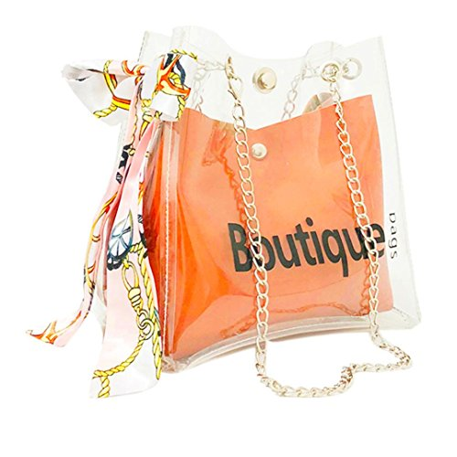 Wholesale Luxury Designer Handbags - JESFFER Transparent Women's Shoulder Messenger Bag Beach Bag Casual Shopping Bag