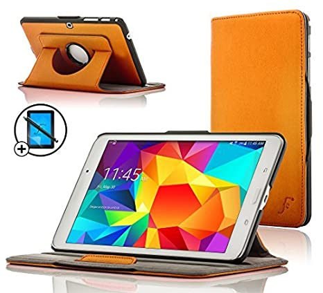 Forefront Cases Samsung Galaxy Tab 4 10.1 Rotatif /Étui Housse Coque Smart Case Cover Stand ROUGE Extra Robust Protection Compl/ète Smart Auto Reveil Sommeil Stylet /& Protecteur
