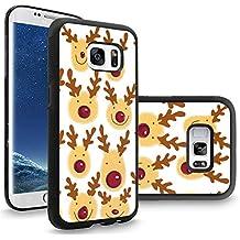 Samsung S8 Plus Case Cartoon Christmas elk, Galaxy S8 Plus Christmas Case, Customized Black Soft Rubber TPU Samsung Galaxy S8 Plus Case