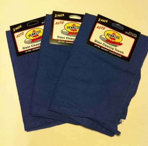 lot-of-6-pennzoil-glass-cleaning-towels-cloths-car-kitchen-lint-free-nwt