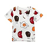 18M-5T,Baby Boy Clothes Toddler Girl Food Print