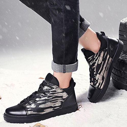 Men's Shoes Feifei Winter Leisure Keep Warm Plate Shoes 3 Colors (Color : 03, Size : EU40/UK7/CN41)