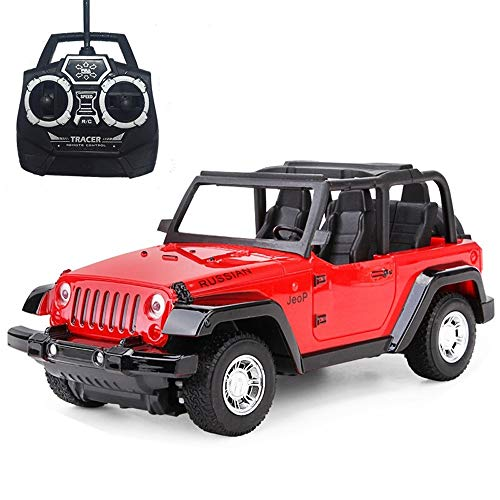 Ycco Remote control off-road vehicle Hummer Children's toy boy toy car Large remote control car model resistant to drop battery rechargeable Remote control off-road vehicle Yellow (Color : Red)