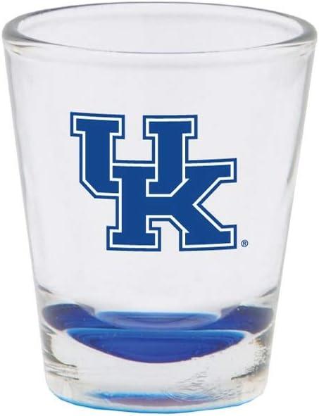 RFSJ Kentucky Wildcats Shot Glass with Team Logo & Colored Bottom