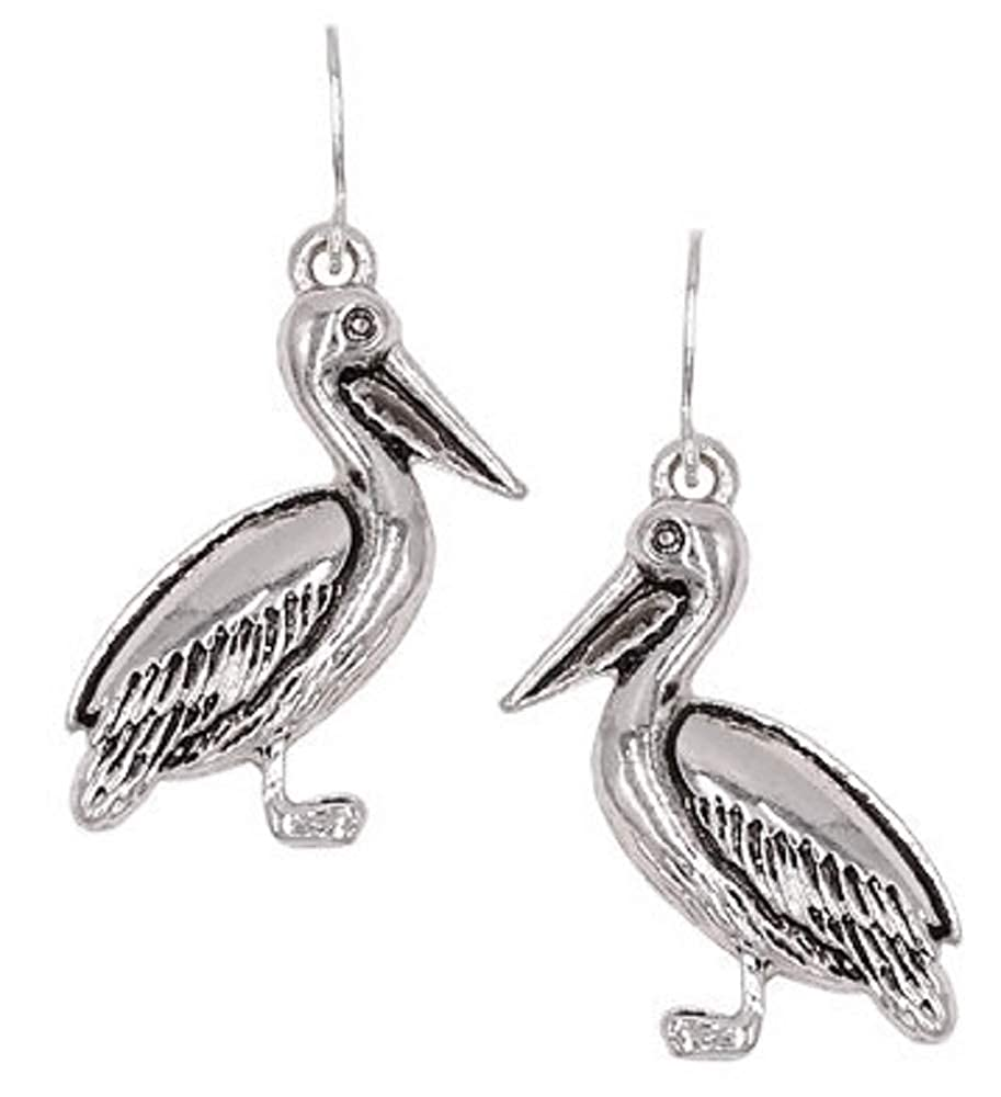 Pizazz Studios Pelican Dangle Earrings