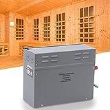 Calentador de sauna, estufa de calentador de sauna de baño de vapor de 6KW con panel de visualización de temperatura de control táctil, para el hogar Habitación de hotel Baño de ducha de spa(US)