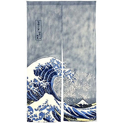 NeoConcept Japanese Noren Ukiyoe The Great Wave off Kanagawa Door Way Curtain 59
