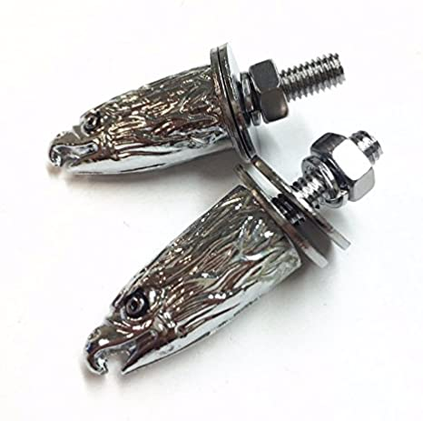 High quality 2 PCS Chrome Eagle Head Bolts Screws Fit For Universal License Plate Tag Frame Windshield Trim Fantastic Replacement