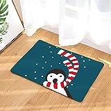 MAYUAN520 Decorative Pillows Hyha Christma Santa Claus Waterproof Anti-Slip Doormat Xmas Carpets Snowman Bedroom Rugs Decorative Stair Mats Home Decor Crafts,4