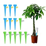 Plant Self Watering Spikes Vacation Automatic Plant Waterer Drip Irrigation Slow Release Device Potted Plants Watering Tool with Slow Release Switch Control Valve Care Your Plants and Flowers