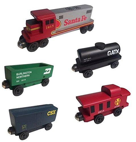 (Whittle Shortline Railroad - Manufacturer Santa Fe Warbonnet Railway GP-38 Diesel 5pc. Set)