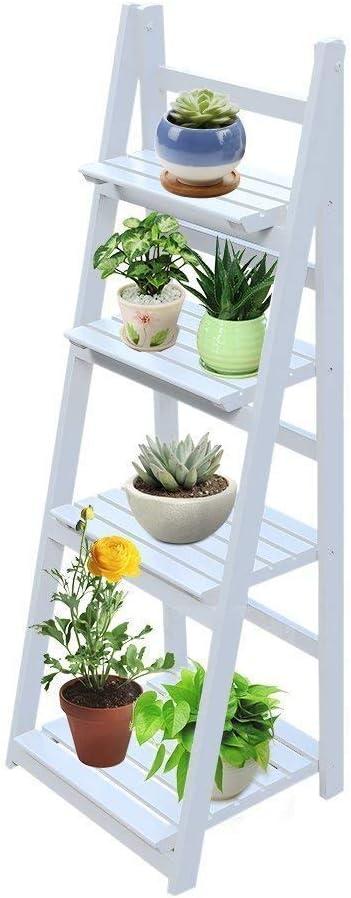BlackEdragon Escalera para Flores, estantería para Plantas, Escalera Plegable para Flores, Escalera para Plantas, estantería para Flores, estantería ...