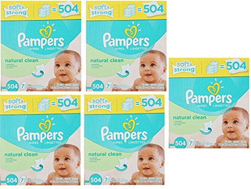 Pampers Natural Clean Wipes 36x Box AkYKxu, 504 Wipes by Pampers (Image #1)