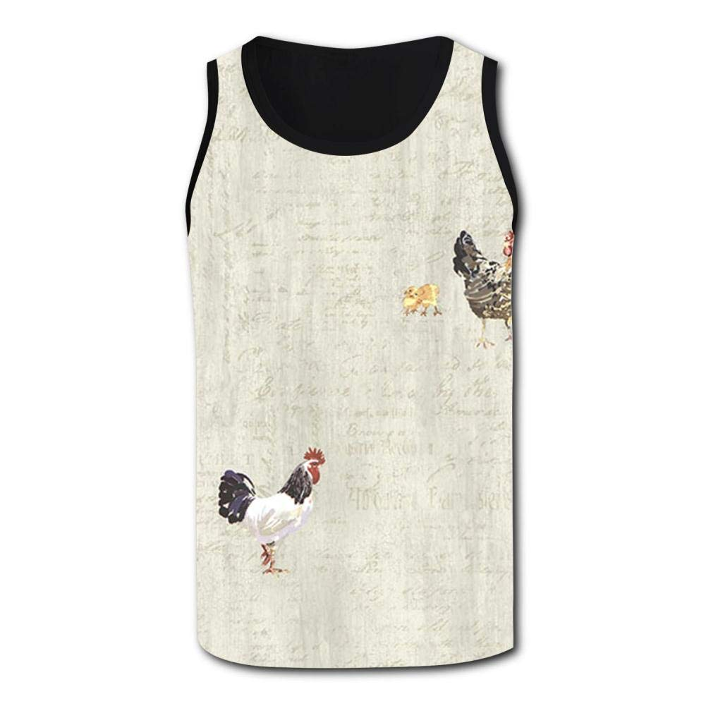 Gjghsj2 Grey Roosters Mens Tank Top Vest Shirts Singlet Tanks Top Sleeveless Underwaist for Beach