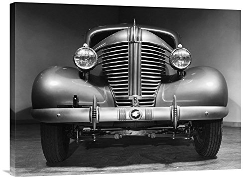 Grille 1938 - Global Gallery Budget Philip Gendreau Front Grille of A 1938 Pontiac Gallery Wrap Giclee on Canvas Print Wall Art, 24