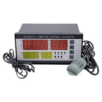 IDABAY Controlador de incubadora automático de Huevos de Aves Termostato Digital Controlador Digital de la Humedad