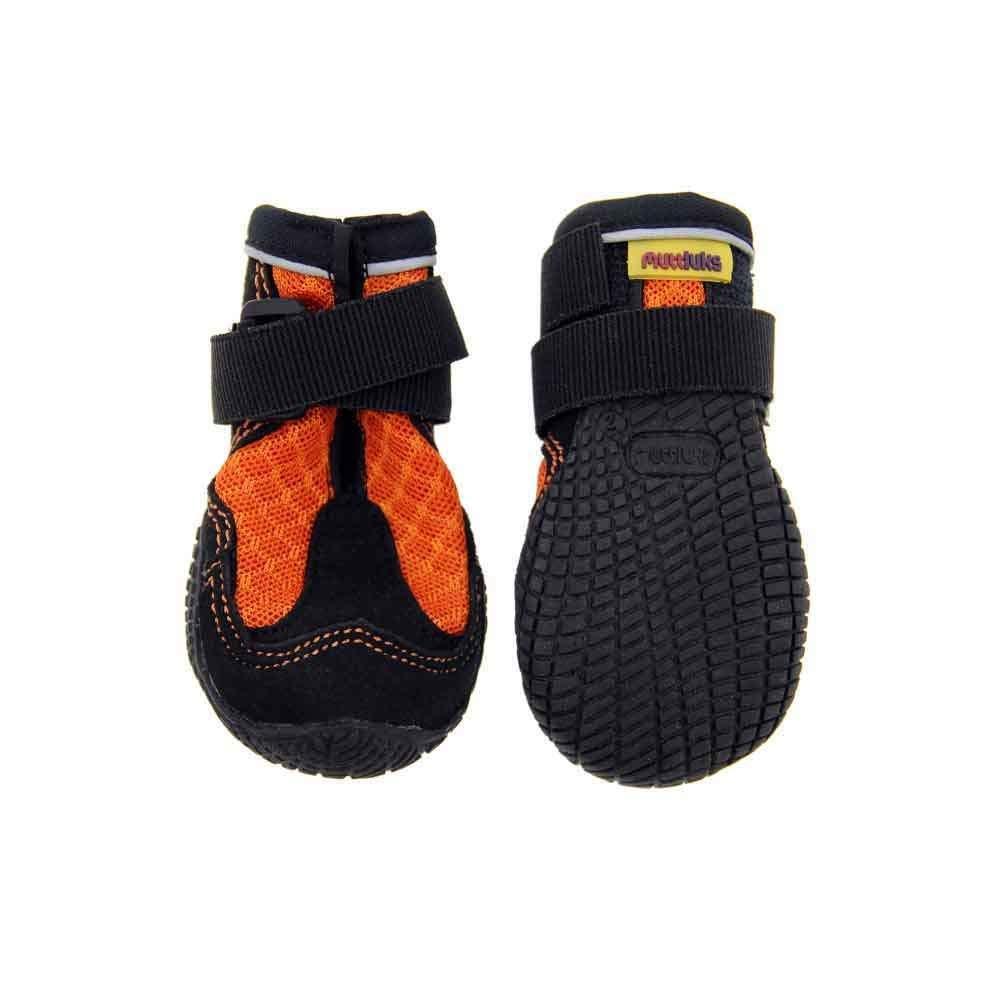 Muttluks Mud Monsters Rugged Summer Dog Boots - Set of 2 - Size 9 (L-XL) - Orange 2 pk